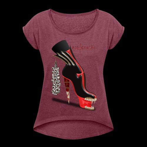 Nosferashu Vampire Shoe - Women's Roll Cuff T-Shirt