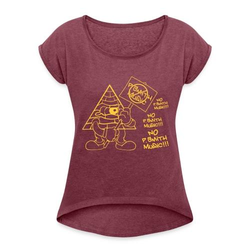Picket_Sikkgn_Shirt - Women's Roll Cuff T-Shirt