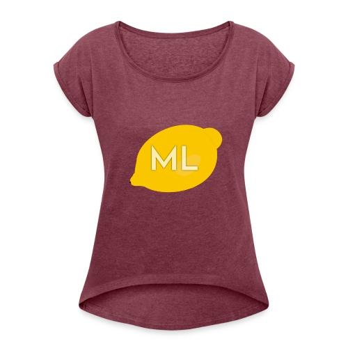 Mad Lemons Logo - Women's Roll Cuff T-Shirt