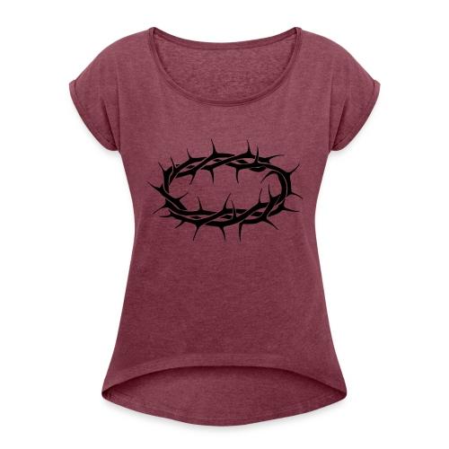 crown - Women's Roll Cuff T-Shirt