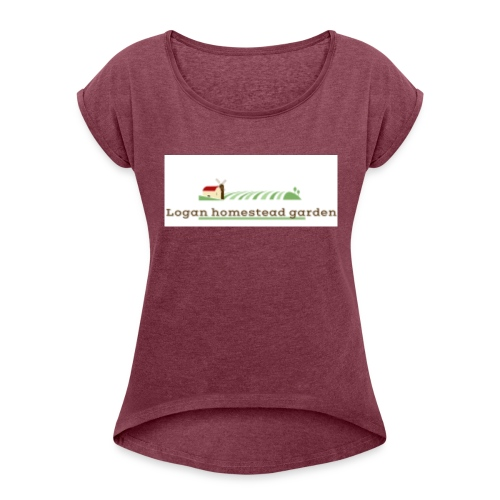 Homesteadlogo - Women's Roll Cuff T-Shirt