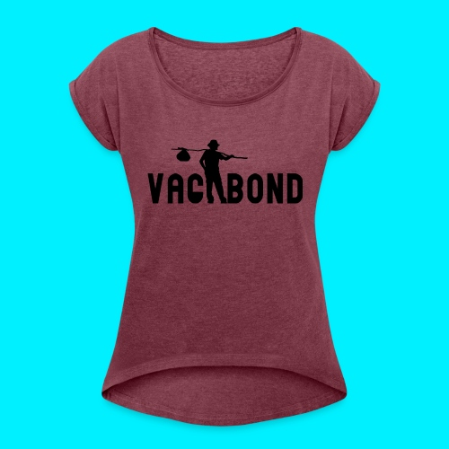 Vagabond Logo Wide - Women's Roll Cuff T-Shirt