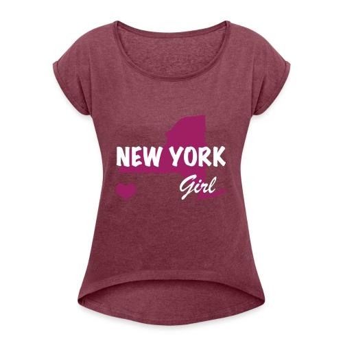 New York Girls - Women's Roll Cuff T-Shirt