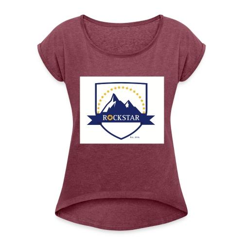 Rockstar_Brand - Women's Roll Cuff T-Shirt