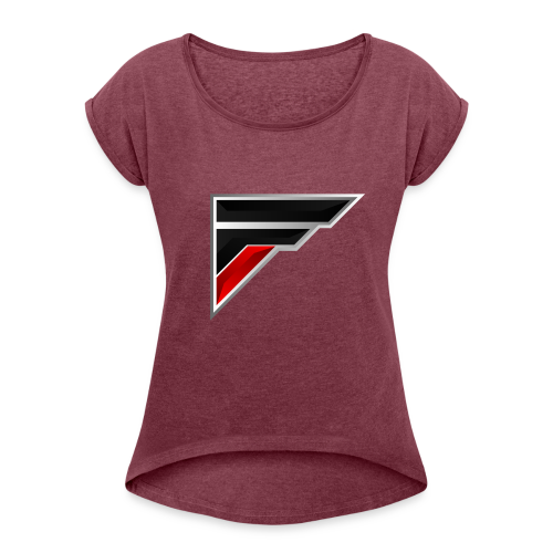 Flash Logo - Women's Roll Cuff T-Shirt