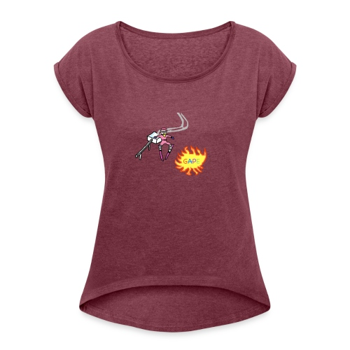 Gape Hoodie - Women's Roll Cuff T-Shirt