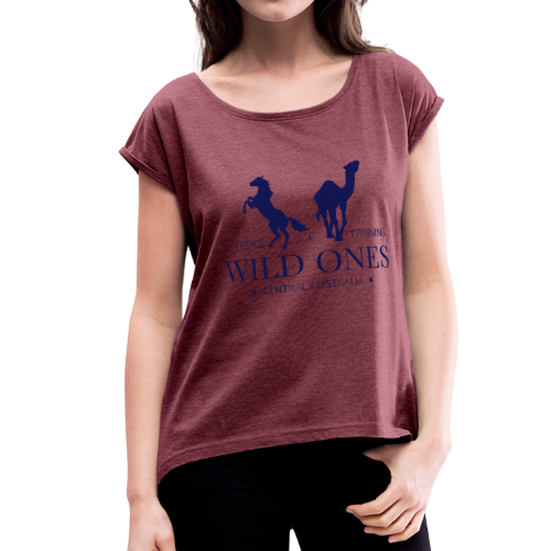 Wild Ones Logo - Women's Roll Cuff T-Shirt