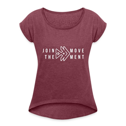 Join The Movement Bass Fishing - Women's Roll Cuff T-Shirt
