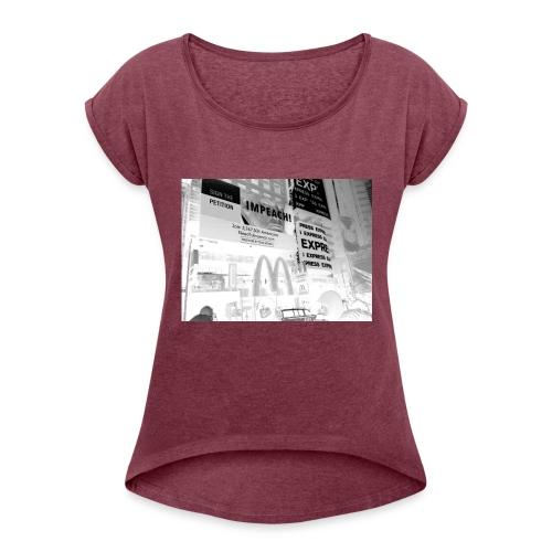 Impeach! - Women's Roll Cuff T-Shirt