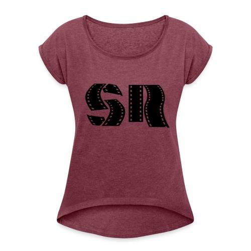 SimonsRants Logo Style #2 - Women's Roll Cuff T-Shirt