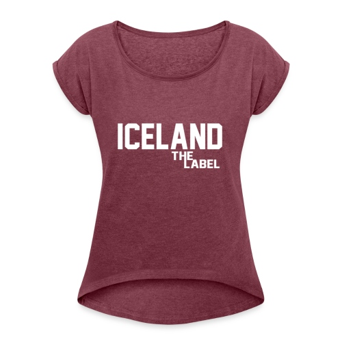 iceland_the_label_printable - Women's Roll Cuff T-Shirt