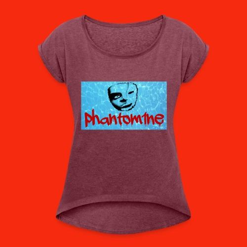 phantom project 1 - Women's Roll Cuff T-Shirt