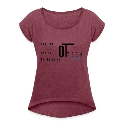 back of tee shirt - Women's Roll Cuff T-Shirt