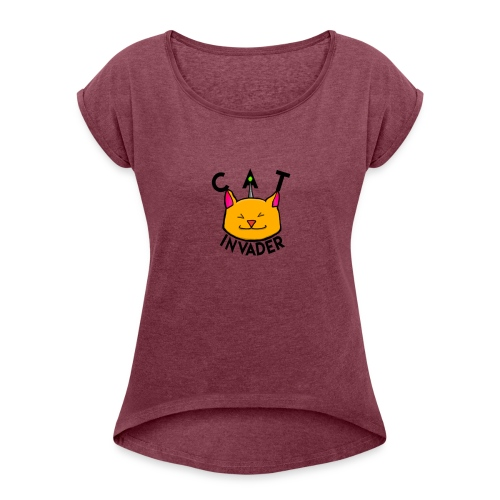 CatInavsders merchandise - Women's Roll Cuff T-Shirt