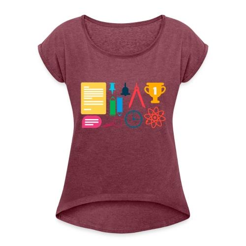 school supplies - Women's Roll Cuff T-Shirt