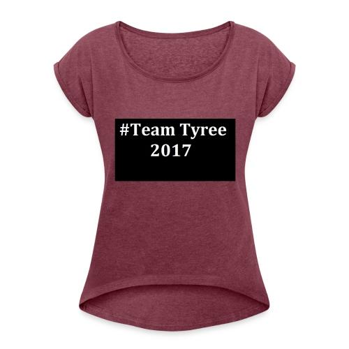 Team_tyree - Women's Roll Cuff T-Shirt
