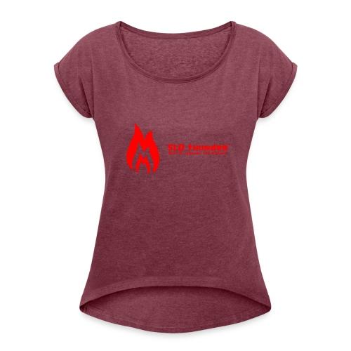 SLO thunder official logo - Women's Roll Cuff T-Shirt