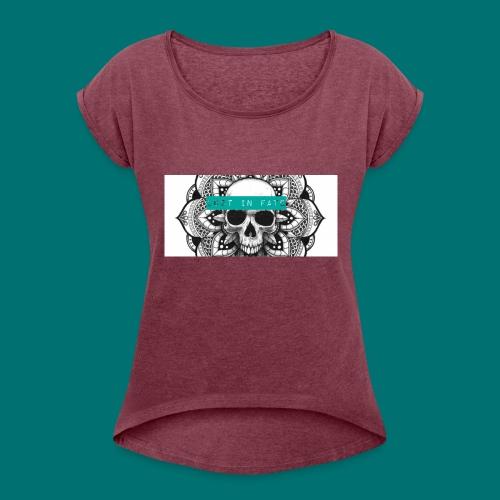 Lost in Fate Design #2 - Women's Roll Cuff T-Shirt