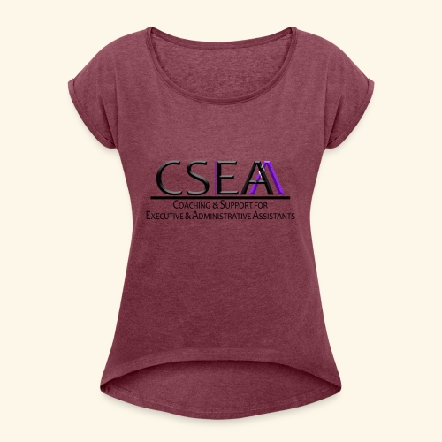 cseaa - Women's Roll Cuff T-Shirt
