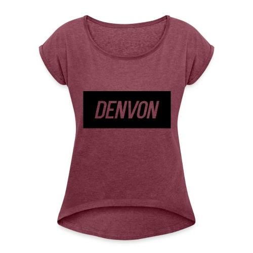 Denvonshirtlogo - Women's Roll Cuff T-Shirt