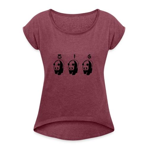 ZIGZIG PANDA - Women's Roll Cuff T-Shirt