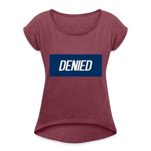 DENIED blauw - Women's Roll Cuff T-Shirt