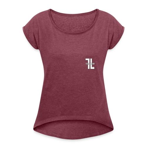 TL Logo - Women's Roll Cuff T-Shirt