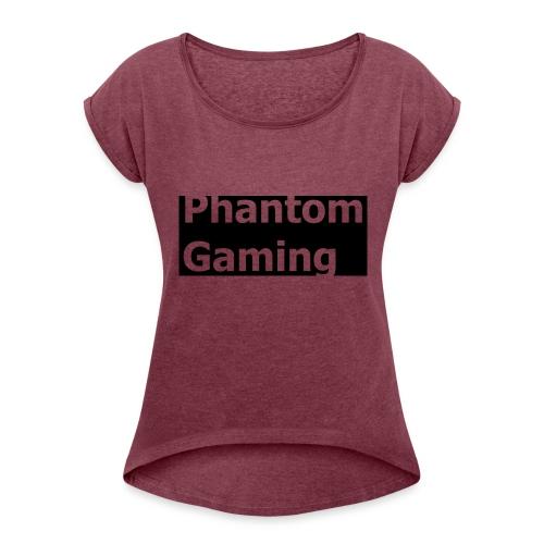 Phantom Shirt No.4 | New Logo Design - Women's Roll Cuff T-Shirt