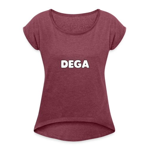 dega shirt - Women's Roll Cuff T-Shirt