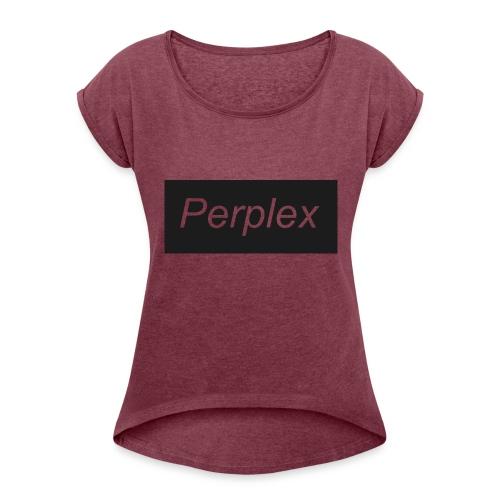 PerplexShirtLogo - Women's Roll Cuff T-Shirt