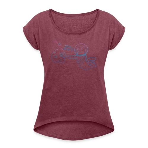 Meet GitLab CI/CD! - Women's Roll Cuff T-Shirt