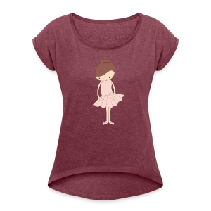 Isabella Ballerina - Women's Roll Cuff T-Shirt