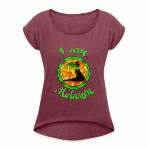 The Melanin Mandala - Women's Roll Cuff T-Shirt