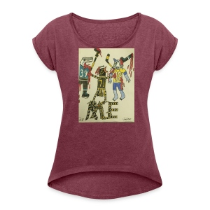 A pens two back to back on the attack - Women's Roll Cuff T-Shirt