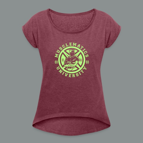 ALUMNI HIGH LIME - Women's Roll Cuff T-Shirt