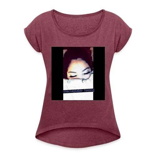 QUEEN G. GORGEOUS👄 - Women's Roll Cuff T-Shirt