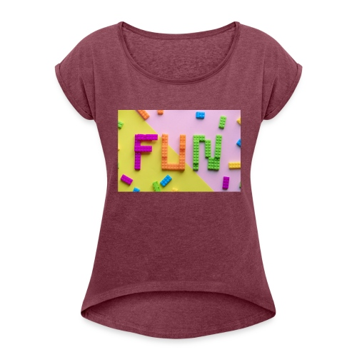 Dreamfun - Women's Roll Cuff T-Shirt