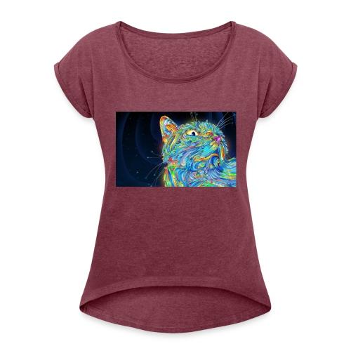47001252 296C 4D3F B860 8AC87F07FA65 - Women's Roll Cuff T-Shirt