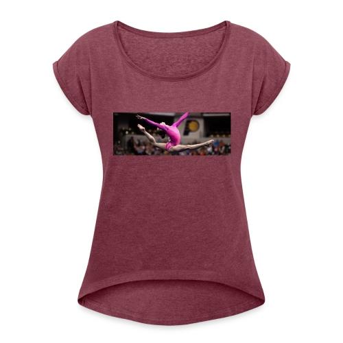 Gymnast - Women's Roll Cuff T-Shirt