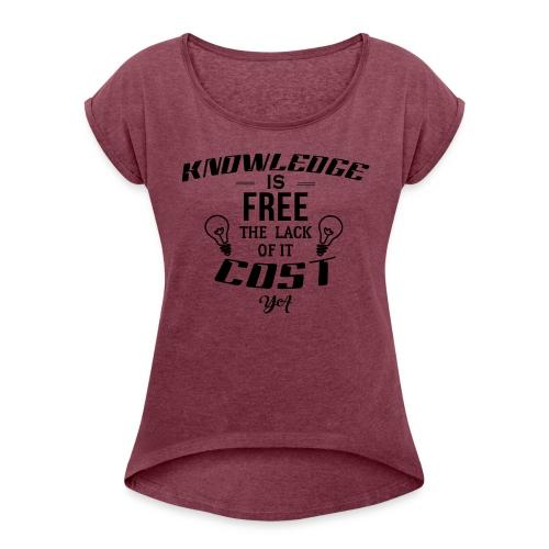 Power Up - Women's Roll Cuff T-Shirt