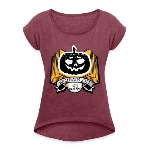 Samhain 2017 Logo shirt - Women's Roll Cuff T-Shirt