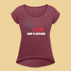 K I M offical - Women's Roll Cuff T-Shirt