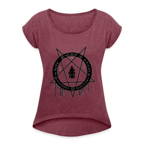 MJT logo Lg Center - Women's Roll Cuff T-Shirt