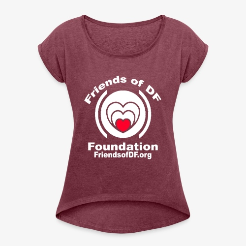 FODFWHITE - Women's Roll Cuff T-Shirt