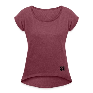 Simple Fresh Gear - Women's Roll Cuff T-Shirt