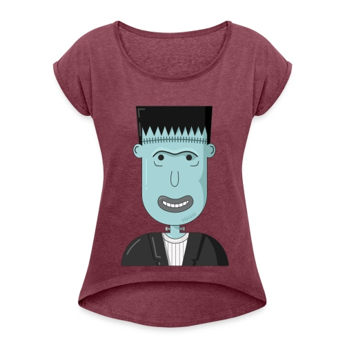 Frankenstein - Women's Roll Cuff T-Shirt