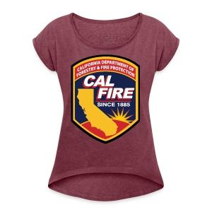 calfire logo T-shirt - Women's Roll Cuff T-Shirt