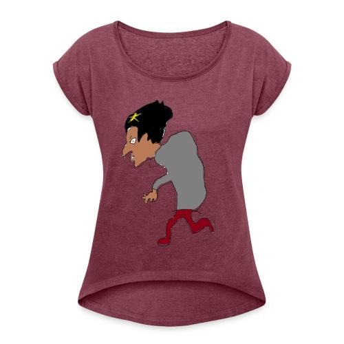 A tea - Women's Roll Cuff T-Shirt