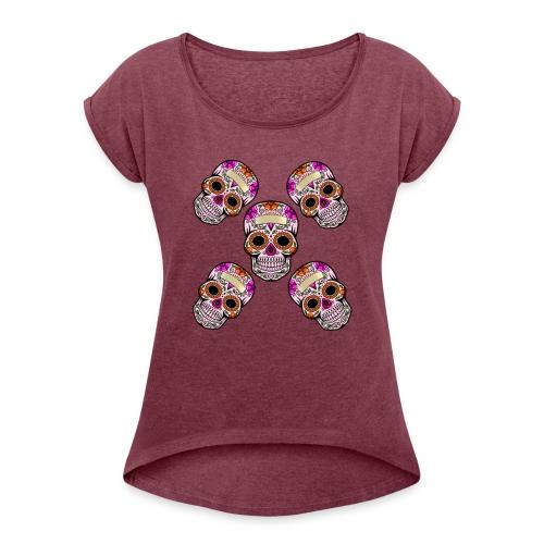 Dia de los muertos - Women's Roll Cuff T-Shirt