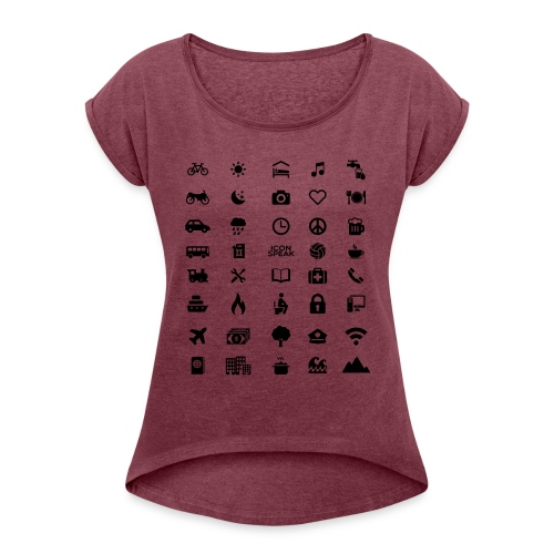 Good design name - Women's Roll Cuff T-Shirt